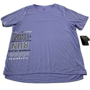 Nike Mens Graphic Running Dri-Fit Mesh Shirt XL